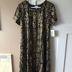 LuLaRoe Carly Elegant Black & Gold
